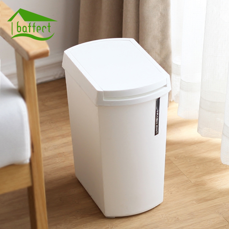 US $17.69 41% OFF|New Push Type Plastic Home Dustbin Sundries Barrel  Storage Tank Bathroom Garbage Box Kitchen Garbage Can Vehicle Trash Can-in  Waste ...