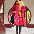 Народная Стиль Женщины Зимняя Куртка Большой Хлопка-ватник Parka Пальто Женщин Ветровка Этнических Традиционный Китайский Одежда