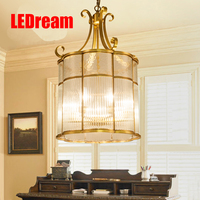 Crystal Artical Village Restaurant Lighting French Romantic Bedroom Whole Copper Glass Pendant Lamp