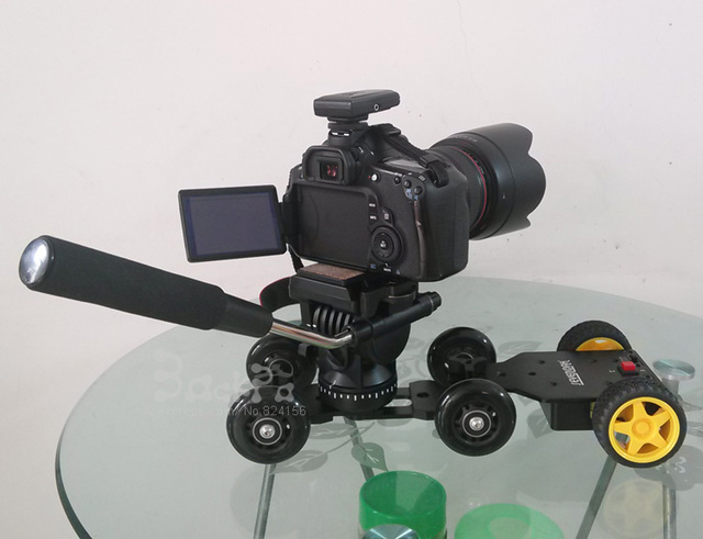 3in1 Table photography dolly + Professional tripod head + motorized dolly dslr camera kit 7D 6D 5D mark II III 70d 60d D610
