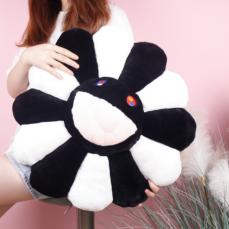 1 Pcs Kawaii Kaikai Kiki Murakami Takashi Colorful Lovely Sun Colorful Flower Plush Pillow Cushion