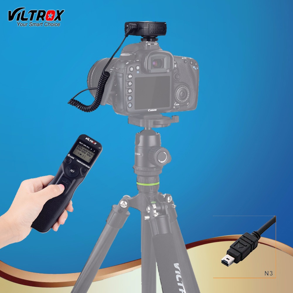 Viltrox JY-710 N3 Camera Wireless Timer Remote Control Shutter Release Control LCD Display for Nikon D90 D7500 D5600 D7200 DSLR viltrox jy 710 camera wireless timer remote shutter release control cable for canon nikon pentax panasonic sony a7 a6000 a6300