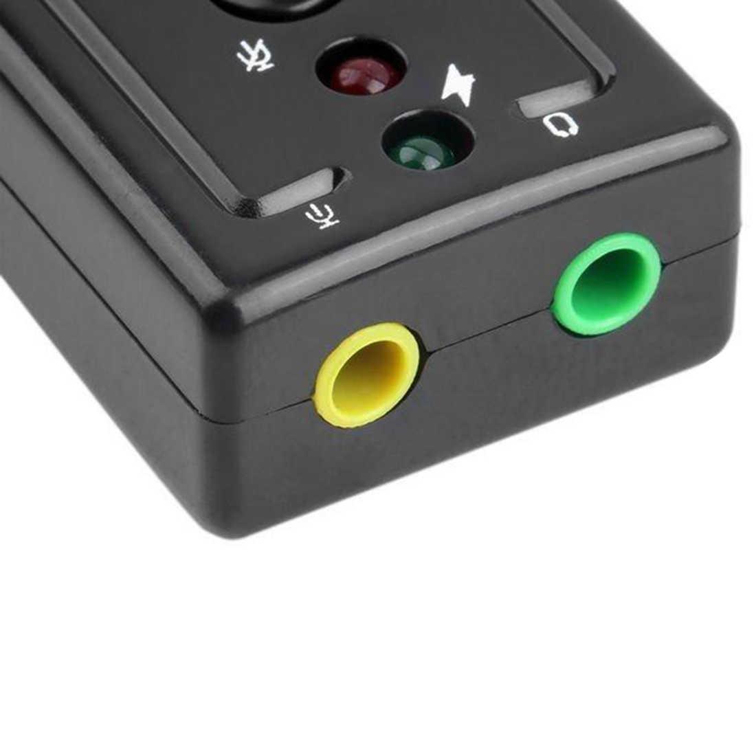 NOYOKERE Горячая продажа Внешняя USB звуковая карта 7,1 канальный 3D аудио адаптер с 3,5 мм гарнитура микрофон для ПК настольного ноутбука