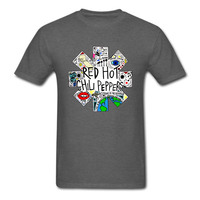 Red Hot Chili Peppers DOODLE T Shirt Rock Band Vintage Distressed T Shirt 2017 New Summer