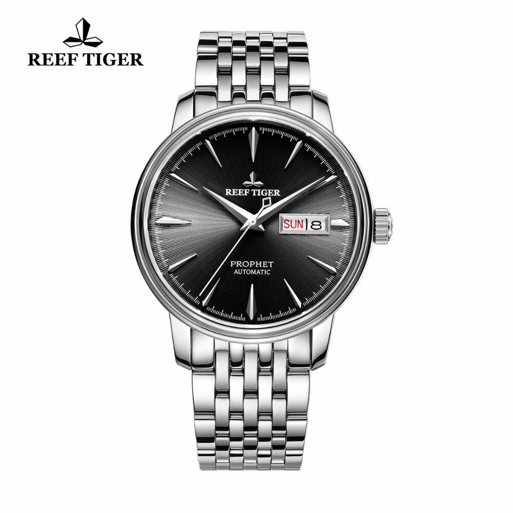 Часы Reef Tiger/RT  полностью из нержавеющей стали  с датой  автоматические часы RGA8236