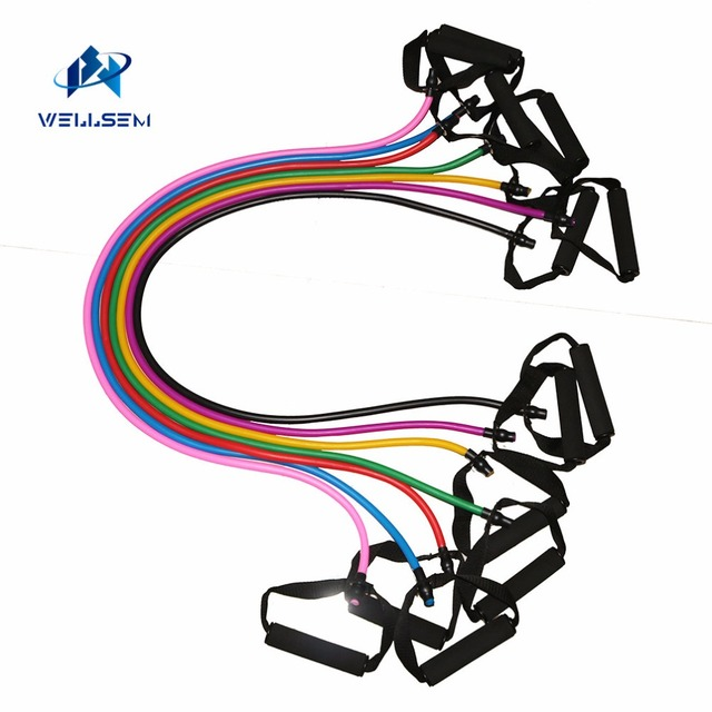 Yoga Pull Rope Fitness Resistance Bands Exercise Tubes Practical