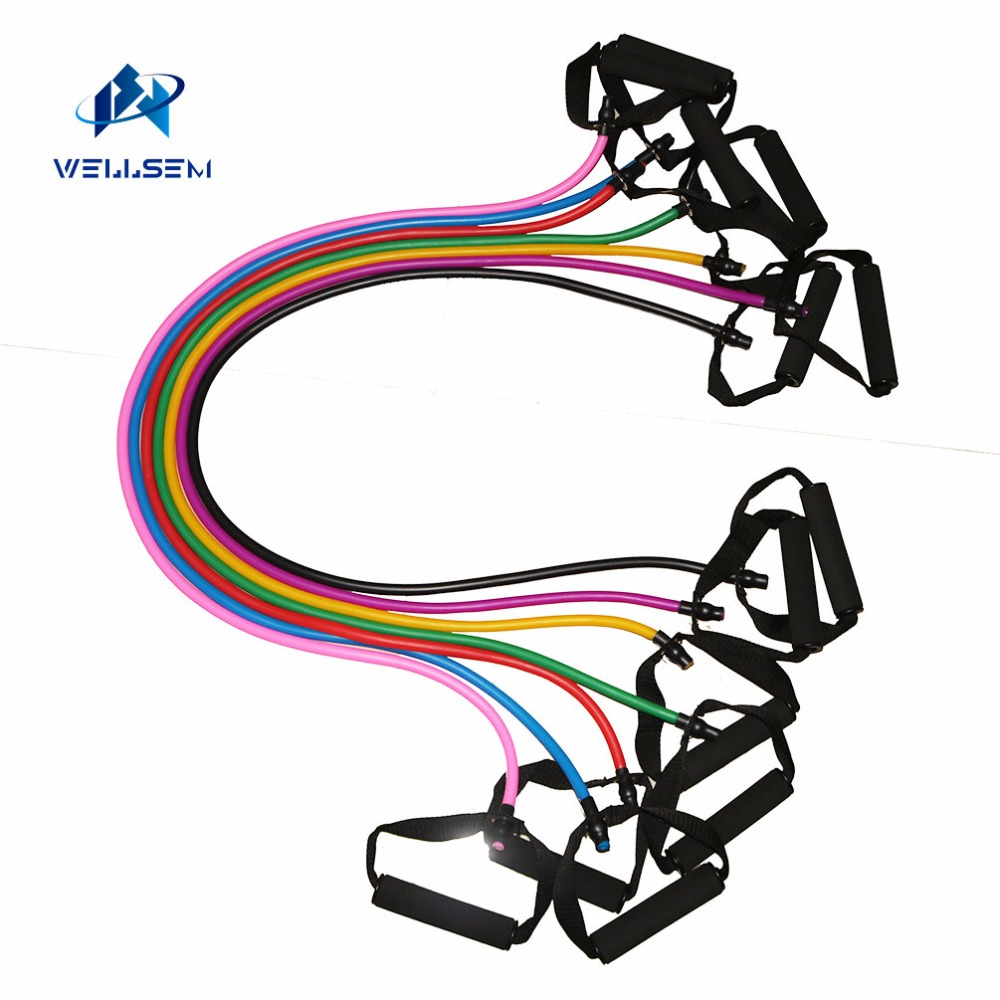Yoga Pull Rope font b Fitness b font Resistance Bands Exercise Tubes Practical Training Elastic Band