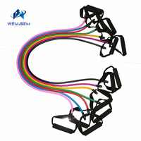 Yoga Pull Rope Fitness Resistance Bands Exercise Tubes Practical Training Elastic Band Rope Yoga Workout Cordages 1PC