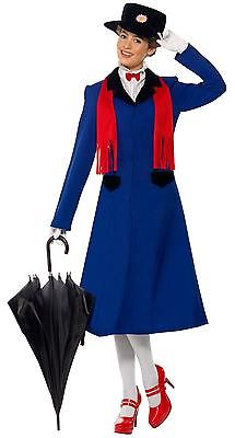 Custimzied Mary Poppins Kleid Mary Poppins Cosplay Kostüm Blau Lange