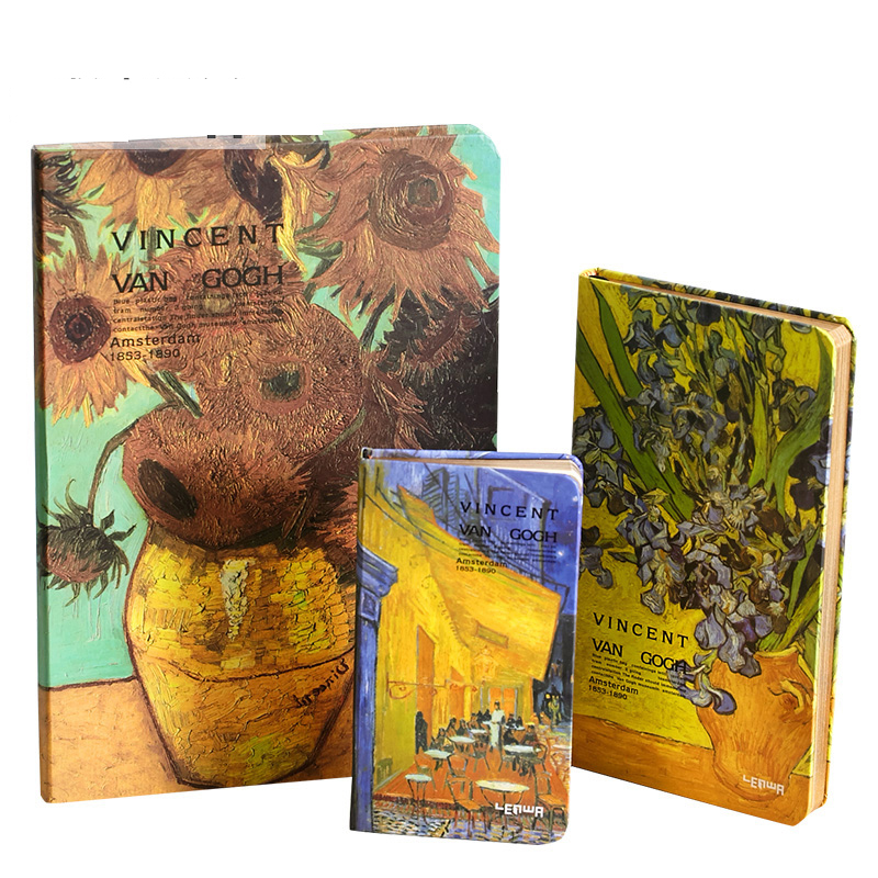 Vintage notebook diary Van Gogh painting hardcover notepad simple portable creative writing pads school travelers supplies vintage creative the twilight saga breaking dawn notebook with magnetic snap fashion trend retro hardcover notepad memos