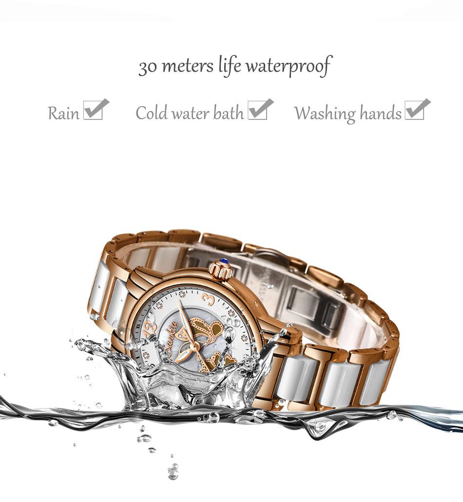 prova dwaterproof água moda ladys relógio para