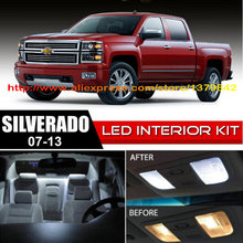 Free Shipping 12Pcs/Lot car-styling Xenon White Canbus Package Kit LED Interior Lights For 07-13 Chevy Silverado цена в Москве и Питере