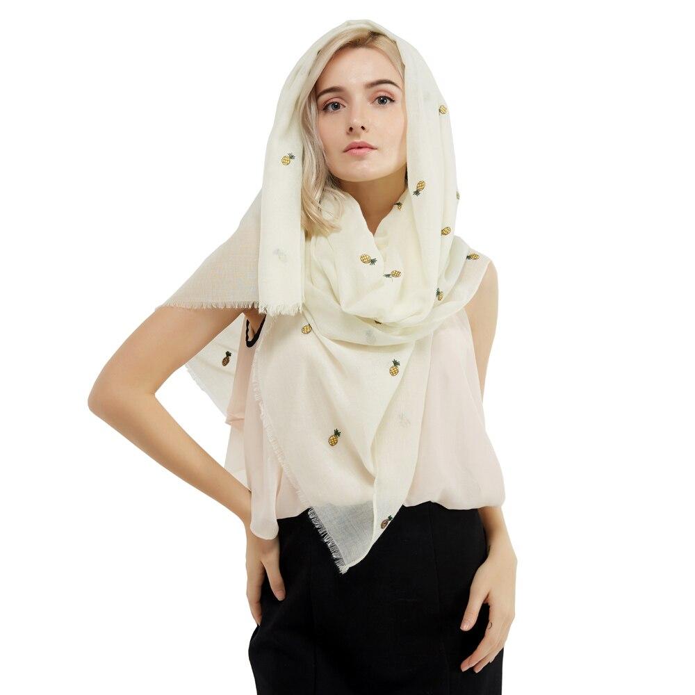1PC 2017 Summer New Design Fashion Polyester Cotton Women Long Scarf Soft Woman Leaf Print Viscose Pashminas Shawl