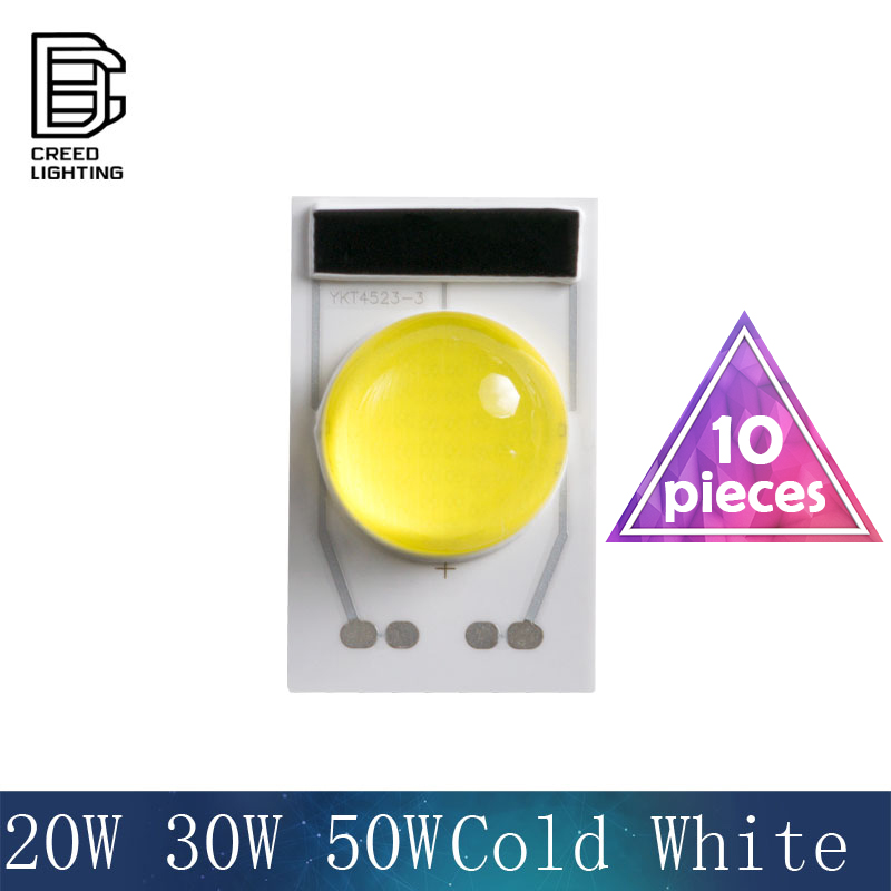 4525 LED COB lampe puce 20 W 30 W 50 W AC 110 V 220 V blanc froid entrée Smart IC pilote adapté pour bricolage éclairage LED projecteur