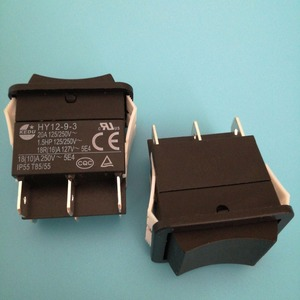 Image 3 - 2pcs KEDU HY12 9 3 6 Pins Push Button On Off On Rocker Switch Pushbutton Switches for Electric Power Tools 125/250V 18/20A