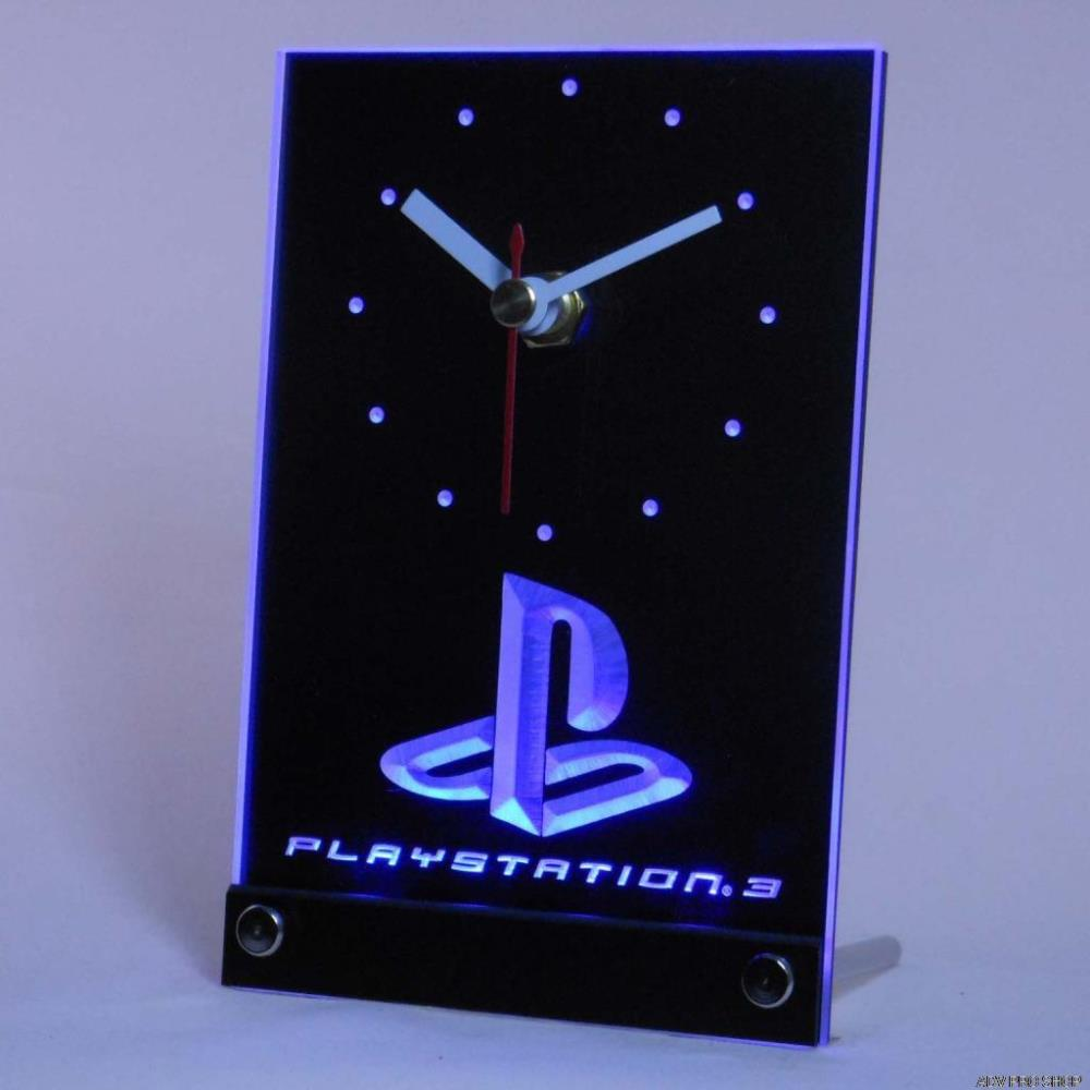 Tnc0193 Playstation PS3 Game Room Table Desk 3D LED Clock