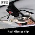 Sline S line Design Car Glasses Holder Case Muiti-purpose Cards Clip Sun Visor Position For Audi A1 A3 A4 A5 A6 A7 Q3 Q5 Q7 RS