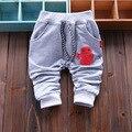 El nuevo 2016 de primavera imagen linda de la historieta de la chica moda de pantalones pantalones de marca nuevos pantalones del bebé ropa del otoño del bebé 4 - 24 m
