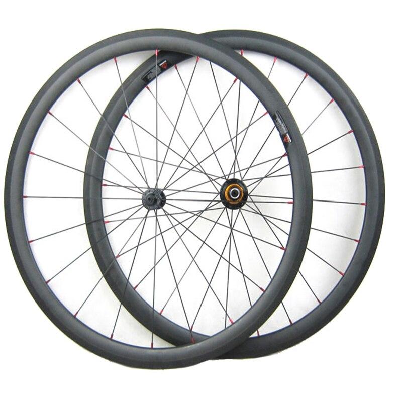 Super Light 1080g 38mm Carbon Wheels Tubular 23mm x 700C Carbon Fiber Road Bike Wheel Set