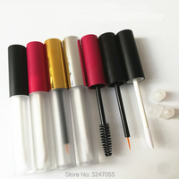 4ML 20pcs Lot 50pcs Lot Frosted Lip Gloss Tube With Red Gold Silver Cap Cosmetic Eyeliner
