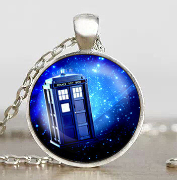Steampunk drama doctor dr who tardis necklace timelord companion time lord purple Nebula chain 1pcs/lot men Pendant jewelry 2017