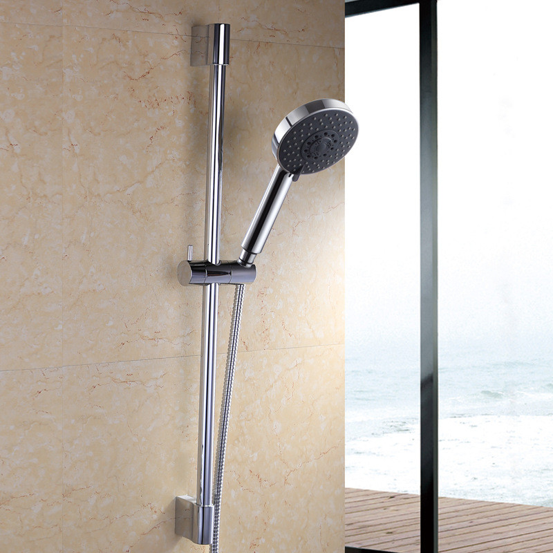 ФОТО Aothpher Water Saving Rainful Shower Head High Pressurized ABS With Brushed Plated Bathroom Hand Shower Water Booster Shower