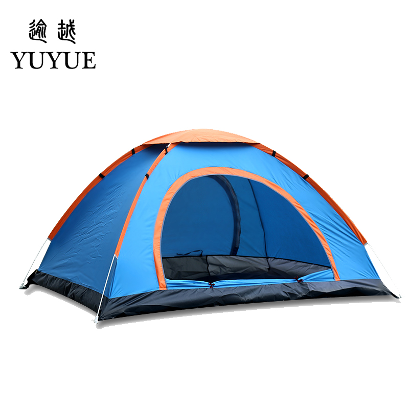 Ultra light 2 person pop up tent cheap price for outdoor camping tourism automatic tent everyting for camping no-see-um mesh