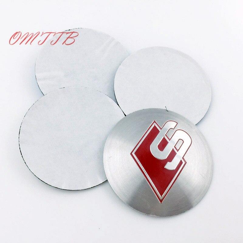 4pcs Aluminium Sline Wheel Hub Center Caps Emblem s line RS S Logo Wheel Sticker For Audi A3 A4 A5 A6 A8 Q3 Q5 Q7 TT car styling