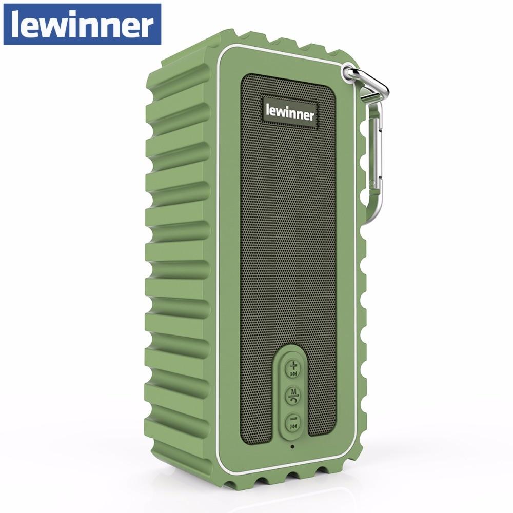 Lewinner Новый мини-водонепроницаемый портативный динамик 10 Вт стерео беспроводной динамик Bluetooth с ультра бас HiFi Звук для спорта на открытом во…