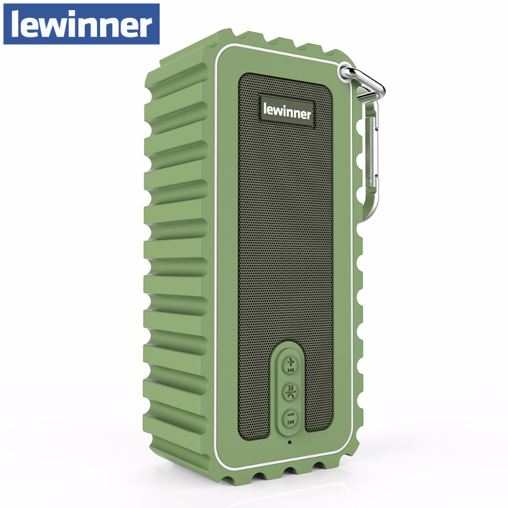 Lewinner New Waterproof Mini Portable Speaker 10W Stereo Wireless Bluetooth Speaker with Ultra Bass HiFi Sound for Outdoor Sport new original meizu lifeme bts30 wireless bluetooth 4 2 aluminum speaker portable stereo outdoor bass mini speakers pk b