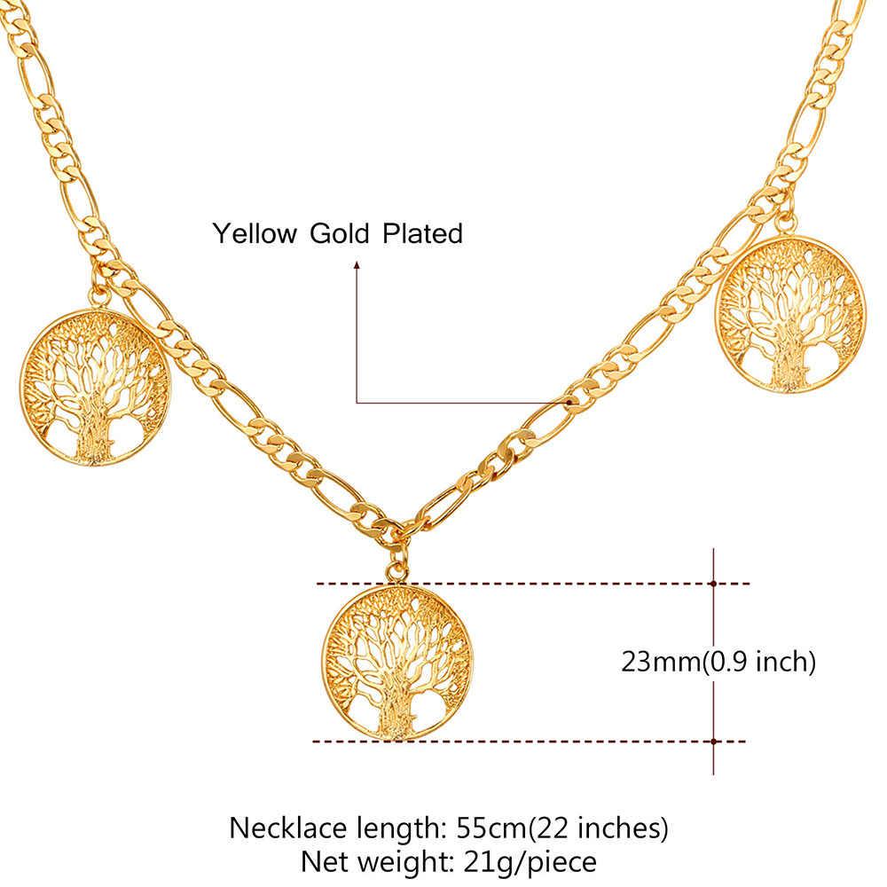 Collareชีวิตต้นไม้สร้อยคอผู้หญิงทอง/สีเงินฟิกาโรโซ่ขายส่งสร้อยคอผู้หญิงเครื่องประดับโชคดีเค้นคอN211