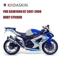 KODASKIN Motorcycle For SUZUKI GSXR1000 K7 2007 2008 2D Fairing Emblem Sticker Decal
