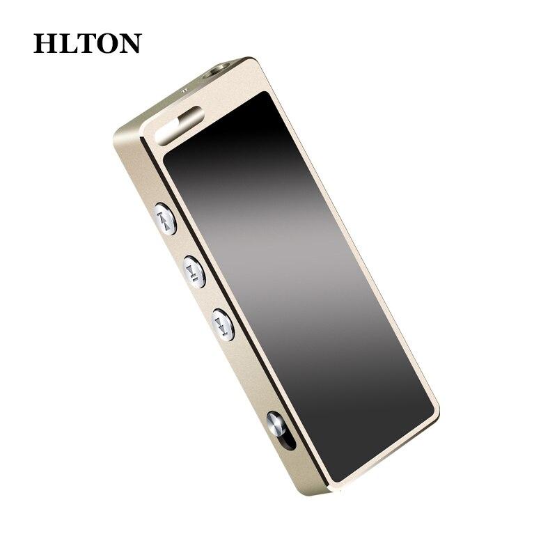 Hlton мини Портативный Цифровые диктофоны без потерь HiFi HD аудио Запись ручка 8 ГБ Ultra Clear диктофон MP3-плееры Grabadora