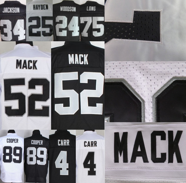 sports shoes 2b3b8 8e997 US $27.99 |52 Khalil Mack Jersey #89 Amari Cooper #4 Derek Carr Jersey #34  Bo Jackson #91 Tuck #75 Long Jersey 100% Stitched Hot Sale-in America ...