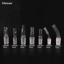 1 шт. стеклянный кальян 14 мм или 19 мм спиральная форма контактного клапана изогнутого типа Соединительный клапан выпуска пара клапан аксессуары для кальяна