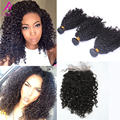 "7A Brazilian 3B 3C Kinky Curly Virgin Hair With Closure 4Pcs Brazilian Virgin Hair 4x4"" Lace Closure With Bundles Aliexpress UK"