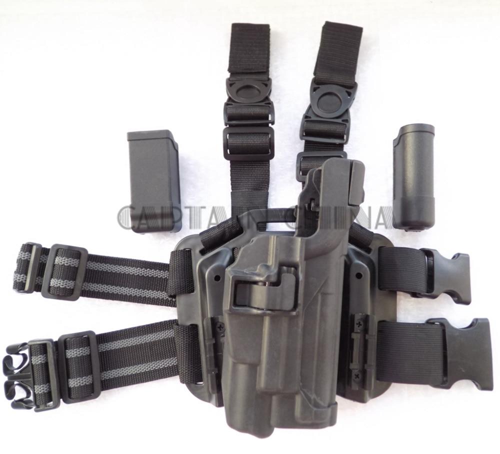 Tactical Gun holster Military Serpa Tactical Drop Leg Thigh holster Lv3 XIPHOS Light Bearing Gun Holster for Colt 1911 tmc mp7 holster swat tactical drop leg holster in night prowls kryptek typhon free shipping sku12050459