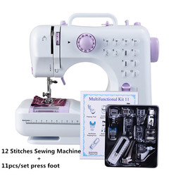 Fanghua многофункциональная мини швейная машинка с функцией оверлок 505A швейная машина 12 сменные стежков + 11 шт. лапки для швейных машин мини шве...