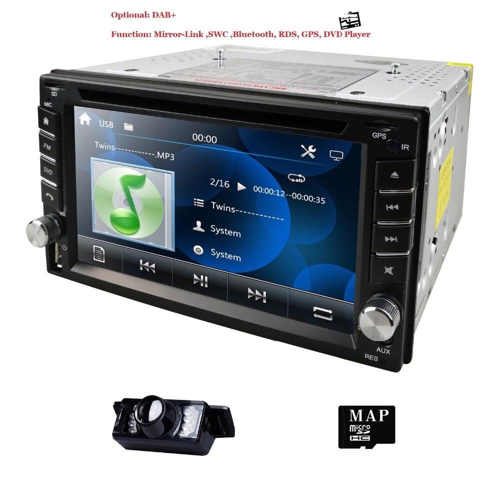 Hizpo 2 Din voiture GPS RadioTape enregistreur 6.2 pouces pour Nisson GPS Navigation Audio stéréo unité de tête SWC SD USB CAM dans l'écran tactile