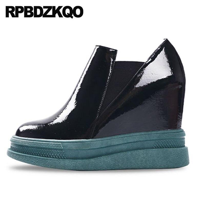 1ad2e7f1 Alto Sole 2018 Zapatos Tobillo Negro Botas Cuña Chelsea gray Para Casuales  Mujeres Tacón Sole Fetiche Redonda ...