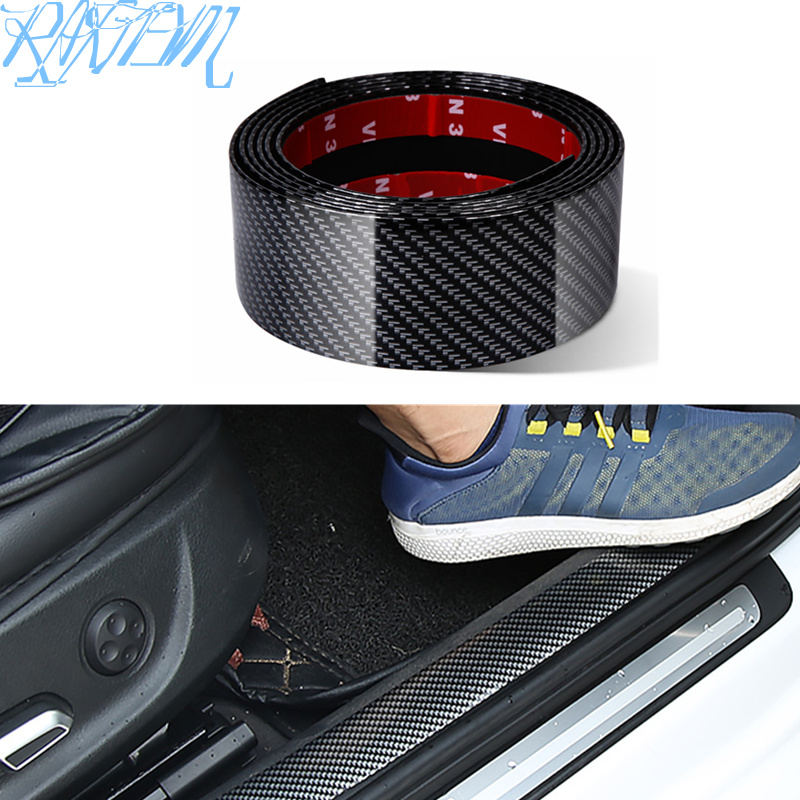 Car Stickers Carbon Fiber Rubber Styling Door Sill Protector Goods For Nissan qashqai J11 J10 juke tiida note AUTO Accessories-in Car Stickers from Automobiles & Motorcycles