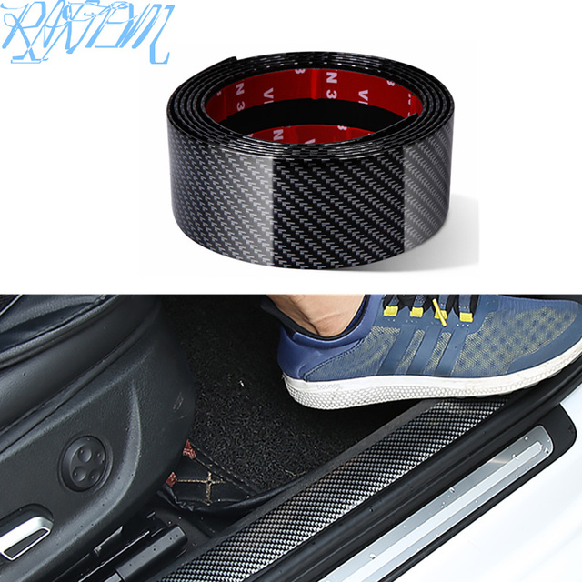 Pegatinas de fibra de carbono para coche Protector de goma estiloso para alféizar de puerta, productos para Nissan qashqai J11 J10 juke tiida note, accesorios para automóvil