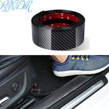 Protecteur de seuil de porte en Fiber de carbone pour voiture, produits pour Nissan qashqai J11 J10 juke tiida note, accessoires automobiles