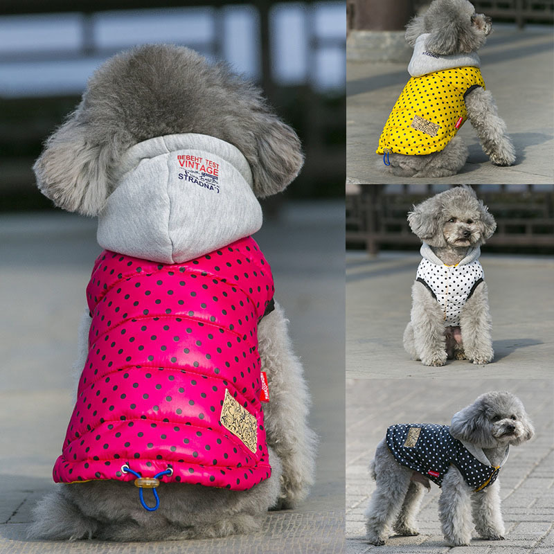 Spot Dog Clothes For Small Dogs Warm Winter French Bulldog Down Vest Jacket Chihuahua Coat Yorkshire Terrier Puppy Pet Clothes