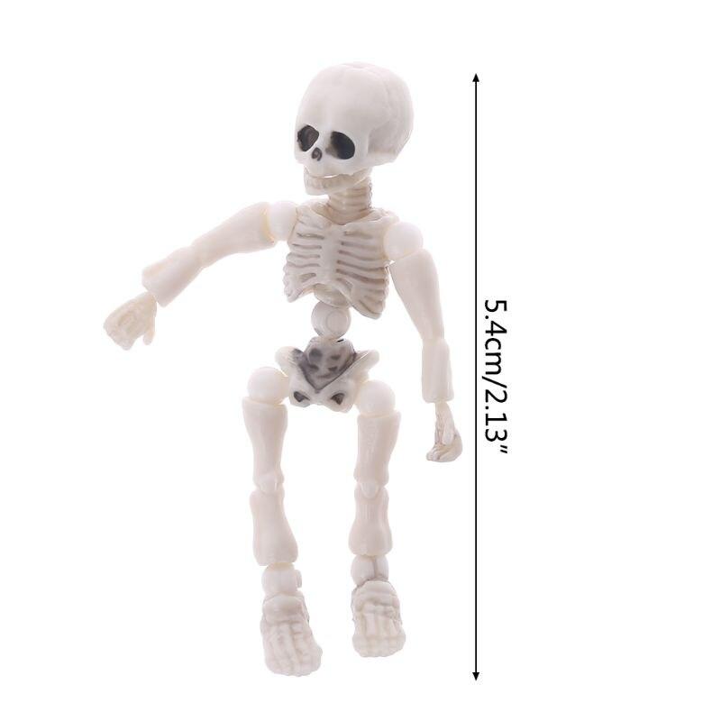 1pc Movable Mr Bones Skeleton Human Model Pose Skull Full Body Mini