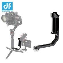 Gimbal accessories L bracket with 3 hot shoe mount Handle magic arm monitor LED MOUNT MOZA/Dji Ronin S/RONIN S2/Ronin SC2