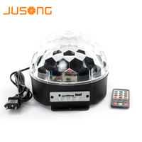 JUSONG Led Disco Stage Party Light Music Speaker Bluetooth DJ Magic Remote Sound Control Laser Club Lamp Projector Lighting
