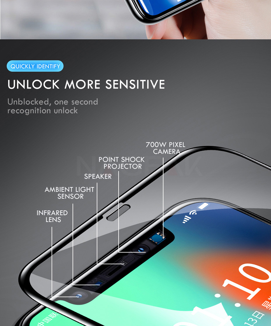 200D Curved Full Cover Protective Glass On The For iPhone 7 8 6S Plus Tempered Screen Protector iPhone 11 Pro X XR XS Max Glass