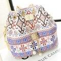 Saco stacy venda quente mulheres bolsa meninas étnicas impressão floral bolsa de ombro cadeia balde ocasional saco flor pequena cruz-saco de corpo