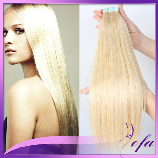 Remy Seamless Tape Hair Extensions Indian Blonde 613 Hair Weave 14